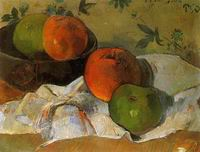 Reproduction of Paul Gauguin painting art Apples and Bowl 1888