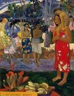 Paul Gauguin paintings art Ia Orana Maria (aka Hail Mary) 1891