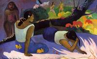 Paul Gauguin painting artwork Arearea no varua ino 1894