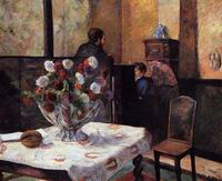 Paul Gauguin art Interior of the Painter's House rue Carcel 1881