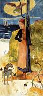 Reproduction of Paul Gauguin paintings artwork Joan of Arc 1889