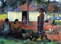 Paul Gauguin art No te aha oe Riri (aka Why are You Angry) 1896
