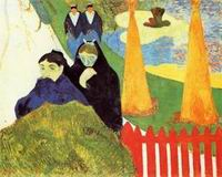 Paul Gauguin art Old Women at Arles (aka Women from Arles in the