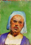 Reproduction of Portrait of a Pont Aven Woman (Marie Louarn) 188