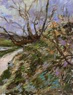 Reproduction of River Bank in Winter (study) 1881 1882