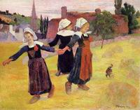 Paul Gauguin Breton Girls Dancing (aka Dancing a Round in the