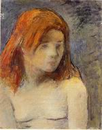 Reproduction of Paul Gauguin paintings Bust of a Nude Girl 1884