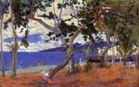 Reproduction of Paul Gauguin paintings art By the Seashore 1887