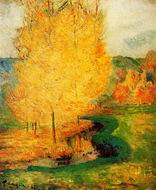 Reproduction of Paul Gauguin paintings By the Stream Autumn 1885