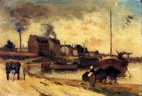 Paul Gauguin paintings Cail Factories and Quai de Grenelle 1875