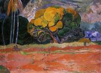 Paul Gauguin art Fatata te moua (aka At the Big Mountain) 1892