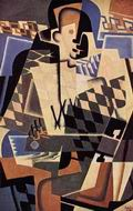 Reproduction of Harlequin with a Guitar 1917