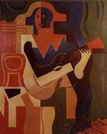 Reproduction of Harlequin with Guitar 1919