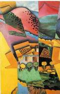 Reproduction of landscape at Ceret sunset 1913
