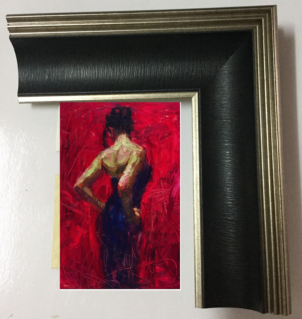 "16x24"" framed Reproductions of Henry Asencio's elegance"