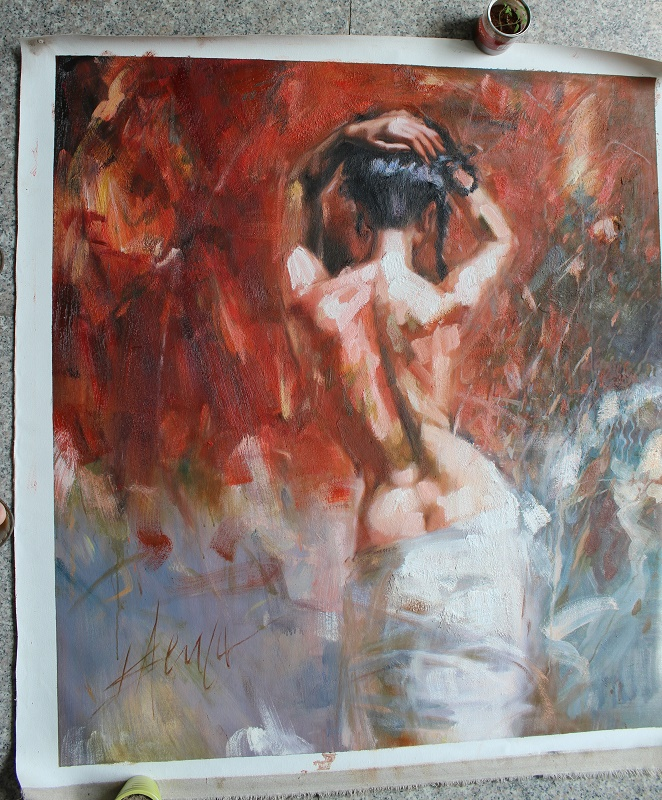 Reproduction of Henry Asencio painting galleries, resolve