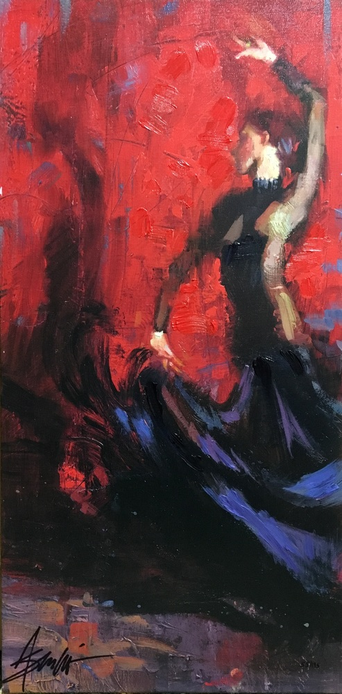 Reproductions of Henry Asencio's paintings Flamenco