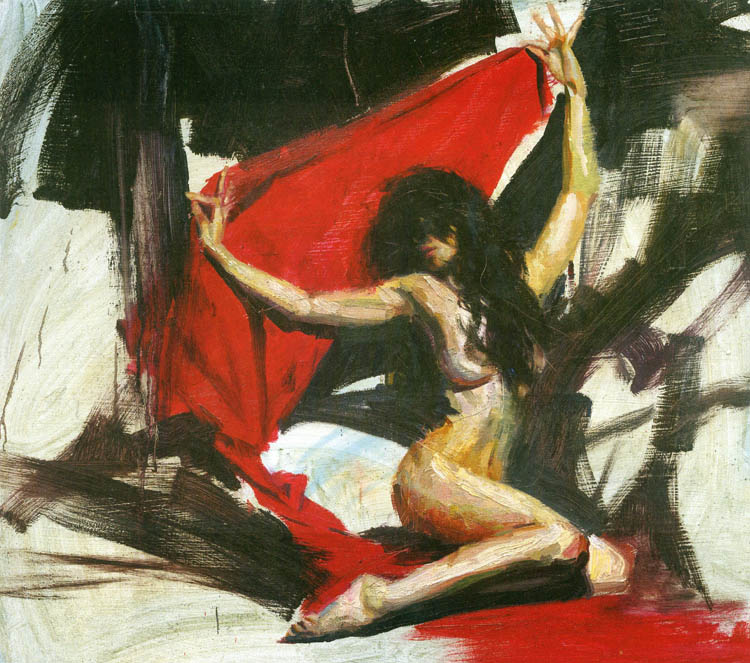 Reproductions of Henry Asencio's red veil