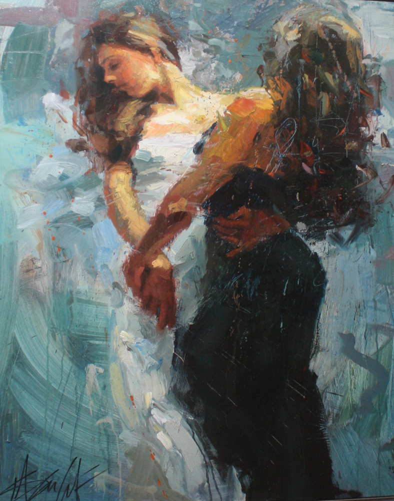 Hand painted Henry Asencio Museum quality oil paintings