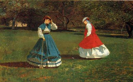 Reproductions of Winslow Homers Paintings A Game of Croquet 1866