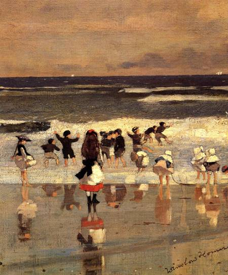 Reproductions of Winslow Homer's paintings Beach Scene (aka Chi