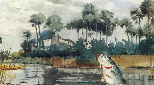 Reproductions of Winslow Homers Paintings Black Bass Florida