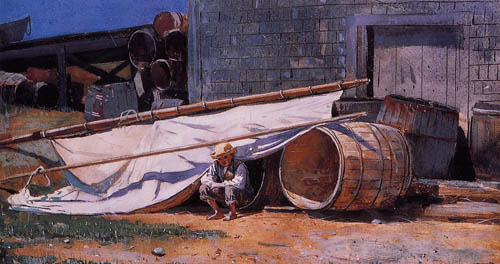 Reproductions of Winslow Homers Paintings Boy in a Boatyard