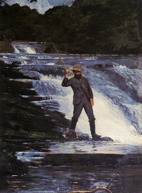 Reproductions of Winslow Homer's paintings The Angler