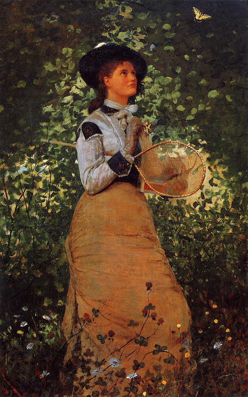 Reproductions of Winslow Homer's paintings The Butterfly Girl