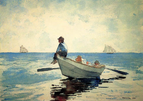 Reproductions of Winslow Homers Paintings Boys in a Dory