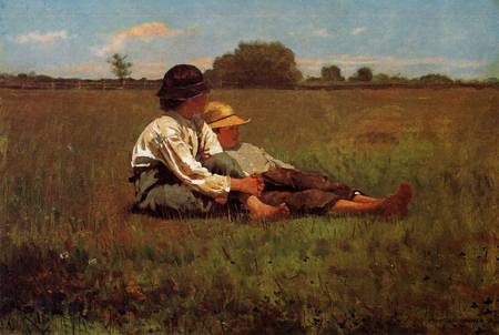 Reproductions of Winslow Homers Paintings Boys in a Pasture 1874