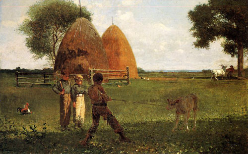 Reproductions of Winslow Homers Paintings Weaning the Calf