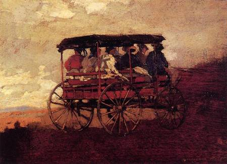 Reproductions of Winslow Homers Paintings White Mountain Wagon 1