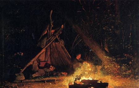 Reproductions of Winslow Homers Paintings Camp Fire 1877-1878