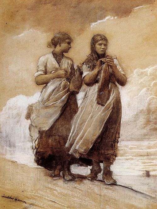 Reproductions of Winslow Homer's paintings Fishergirls on Shore