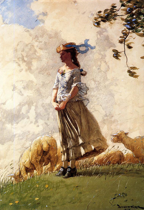 Reproductions of Winslow Homer's paintings Fresh Air