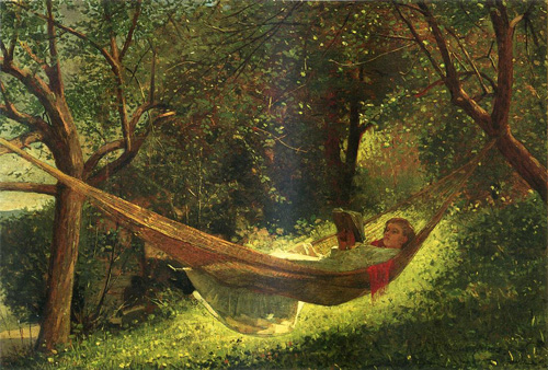 Reproductions of Winslow Homers Paintings Girl in a Hammock