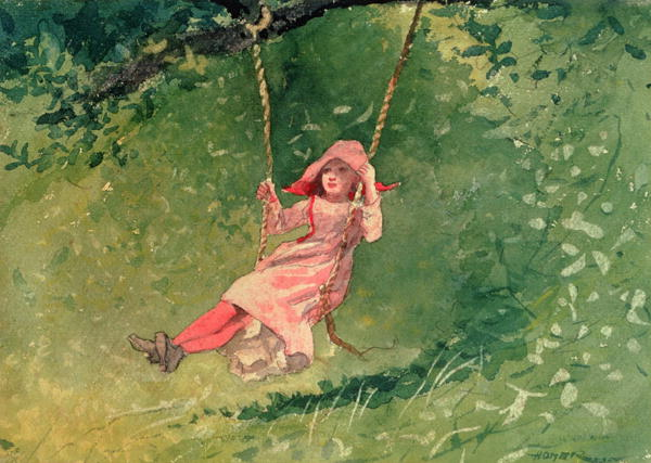 Reproductions of Winslow Homers Paintings Girl on a Swing
