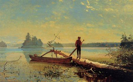 Reproductions of Winslow Homers Paintings An Adirondack Lake1870