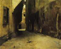 Reproductions of John Singer Sargenti's art A Street in Venice