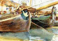 Reproductions of John Singer Sargenti's art Boats Venice