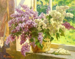 Reproductions of KapakaweB's oil paintings for sale,Lilac box