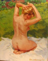 Reproductions of KapakaweB's oil paintings for sale,Nude