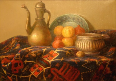Reproductions of KapakaweB,Still life with carpet and utensils