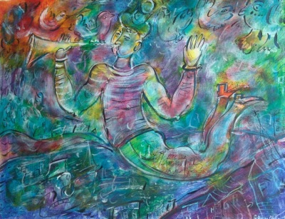 Reproductions of KapakaweB's fine art for sale,Trumpeter