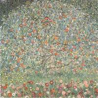 Gustav Klimt Paintings Artwork Apple Tree 1912