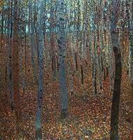 Gustav Klimt Paintings Artwork Beech Forest I 1902