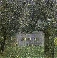 Gustav Klimt Paintings Artwork Austrian Farmhouse 1911-1911