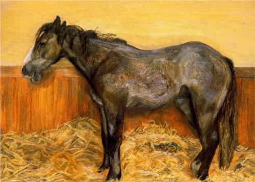 Reproduction of Lucian Freud Painting artwork - A Filly, 1970