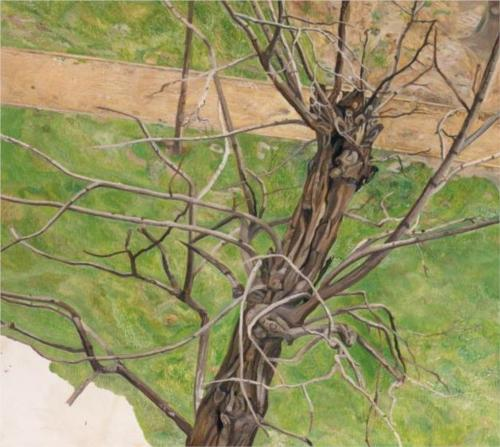 Reproduction of Lucian Freud Painting artwork, Acacia, 1975